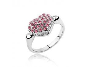 SWI crystal ring Heart 1983