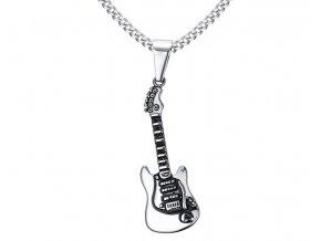 Prívesok Gitara z chirurgickej ocele