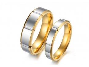 Prstene pre pár - chirurgická oceľ 2ks