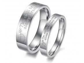 Prstene pre pár z chirugickej ocele 2ks